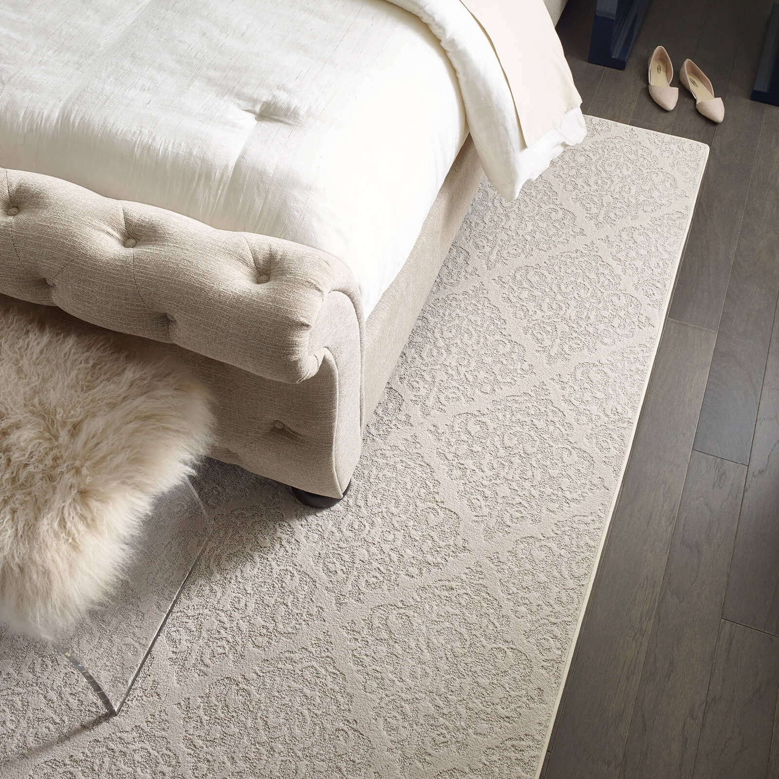 Northington Smooth Greystone Chateau Fare Urban Glamour Bedroom Rug Living Room | Home Lumber & Supply